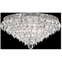 Schonbek BN1424N-401A Baronet 6 Light Polished Stainless Steel Flush Mount Ceiling Light in Clear Spectra