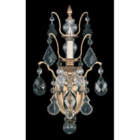 Schonbek Bordeaux 1 Light Wall Sconce in French Gold and Black Diamond Heritage Handcut Colors Trim 5765-26BD photo thumbnail