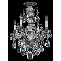 Schonbek Bordeaux 4 Light Chandelier in Textured Bronze and Clear Legacy Collection Trim 5767-73L