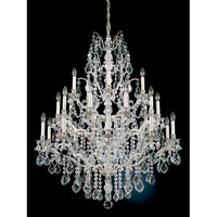 Schonbek Bordeaux 25 Light Chandelier in Antique Silver and Clear Legacy Collection Trim 5775-48L