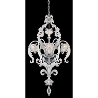 Schonbek Brocade 8 Light Chandelier in White and Crystal Swarovski Elements Trim BR3856N-36S