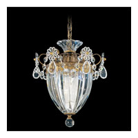 Bagatelle 1 Light 8 inch Etruscan Gold Pendant Ceiling Light in Clear Swarovski