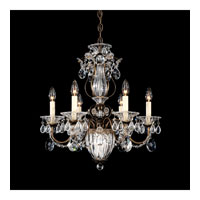 Schonbek Bagatelle 7 Light Chandelier in Etruscan Gold and Clear Heritage Handcut Trim 1246-23