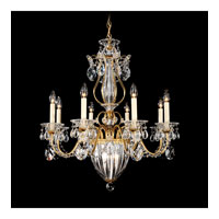 Schonbek Bagatelle 11 Light Chandelier in Heirloom Gold and Clear Heritage Handcut Trim 1248-22