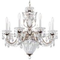 Schonbek 1238N-48S Bagatelle 11 Light 27 inch Antique Silver Pendant Ceiling Light in Bagatelle Swarovski
