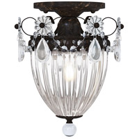 Schonbek 1239-76A Bagatelle 1 Light 8 inch Heirloom Bronze Semi Flush Mount Ceiling Light in Clear Spectra