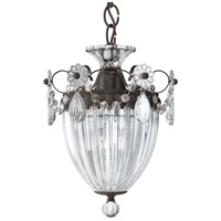 Schonbek 1241-76 Bagatelle 1 Light 8 inch Heirloom Bronze Pendant Ceiling Light in Clear Heritage