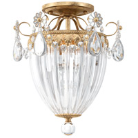 Schonbek 1242-26A Bagatelle 3 Light 11 inch French Gold Semi-Flush Mount Ceiling Light in Clear Spectra