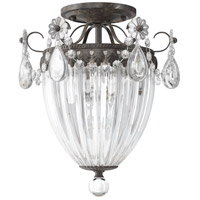 Schonbek 1242-76 Bagatelle 3 Light 11 inch Heirloom Bronze Semi Flush Mount Ceiling Light in Bagatelle Heritage