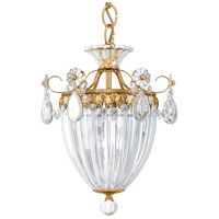 Bagatelle 3 Light 11 inch Heirloom Gold Pendant Ceiling Light in Clear Heritage