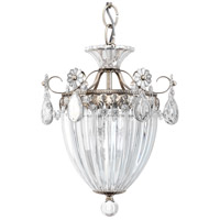 Schonbek 1243-48 Bagatelle 3 Light 11 inch Antique Silver Pendant Ceiling Light in Clear Heritage