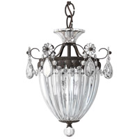 Bagatelle 3 Light 11 inch Heirloom Bronze Pendant Ceiling Light in Clear Swarovski