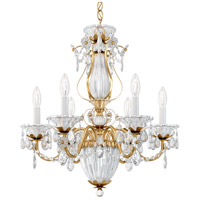Schonbek 1246-22 Bagatelle 7 Light 21 inch Heirloom Gold Chandelier Ceiling Light in Clear Heritage