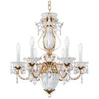 Schonbek 1246-26 Bagatelle 7 Light 21 inch French Gold Chandelier Ceiling Light in Bagatelle Heritage