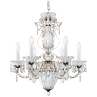 Schonbek 1246-48 Bagatelle 7 Light 21 inch Antique Silver Chandelier Ceiling Light in Clear Heritage