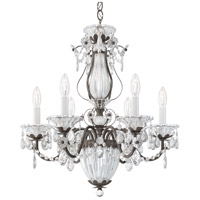 Schonbek 1246-76 Bagatelle 7 Light 21 inch Heirloom Bronze Chandelier Ceiling Light in Bagatelle Heritage