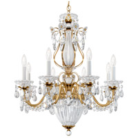 Schonbek 1248-22 Bagatelle 11 Light 27 inch Heirloom Gold Chandelier Ceiling Light in Clear Heritage