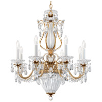 Schonbek 1248-26A Bagatelle 11 Light 27 inch French Gold Chandelier Ceiling Light in Clear Spectra