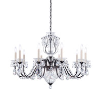 Schonbek 1260N-48A Bagatelle 10 Light 35 inch Antique Silver Chandelier Ceiling Light in Clear Spectra