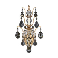 Schonbek Bordeaux 1 Light Wall Sconce in French Gold and Black Diamond Heritage Handcut Colors Trim 5765-26BD