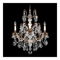 Schonbek Bordeaux 5 Light Chandelier in Textured Bronze and Clear Legacy Collection Trim 5769-73L