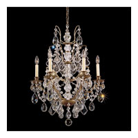 Schonbek Bordeaux 6 Light Chandelier in Etruscan Gold and Clear Legacy Collection Trim 5770-23L