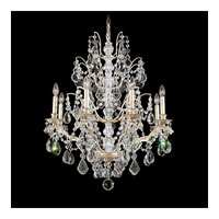 Schonbek Bordeaux 8 Light Chandelier in Silvergild and Clear Legacy Collection Trim 5771-91L