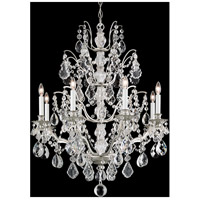 Bordeaux 8 Light 28 inch Antique Silver Chandelier Ceiling Light