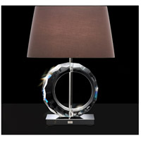 Boutique 25 inch 75 watt Stainless Table Lamp Portable Light in Gray, Ring