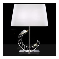 Boutique 25 inch 75 watt Stainless Table Lamp Portable Light in White, Triangle