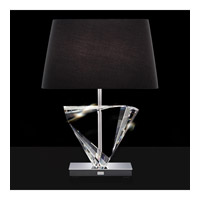 Boutique 25 inch 75 watt Stainless Table Lamp Portable Light in Black, Moon