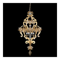 Schonbek Brocade 7 Light Chandelier in French Gold and Crystal Swarovski Elements Trim BR3855N-26S