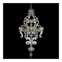 Schonbek Brocade 7 Light Chandelier in Stainless Steel and Crystal Swarovski Elements Trim BR3855N-401S