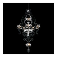 Schonbek Brocade 7 Light Chandelier in Black and Crystal Swarovski Elements Trim BR3855N-51S