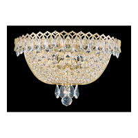 Schonbek Camelot 2 Light Wall Sconce in Special Gold and Clear Gemcut Trim 2610-20