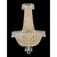 Schonbek Camelot 3 Light Wall Sconce in Special Gold and Clear Gemcut Trim 2612-20