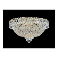 Schonbek Camelot 6 Light Flush Mount in Special Gold and Clear Gemcut Trim 2618-20