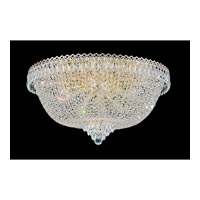 Schonbek Camelot 21 Light Flush Mount in Special Gold and Clear Gemcut Trim 2620-20