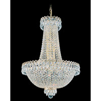 Schonbek Camelot 12 Light Chandelier in Special Gold and Clear Gemcut Trim 2622-20