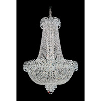 Schonbek Camelot 22 Light Chandelier in Polished Silver and Clear Gemcut Trim 2626-40 photo thumbnail