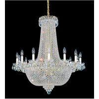 Schonbek Camelot 36 Light Chandelier in Special Gold and Clear Gemcut Trim 2627-20