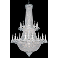 Schonbek Camelot 84 Light Chandelier in Black Pearl and Gemcut Crystal 2643-49