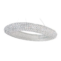 Cassini 20 Light 24 inch Stainless Steel Pendant Ceiling Light in Clear Swarovski, Geometrix,Canopy Sold Separately