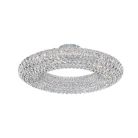 Cassini 15 Light 25 inch Stainless Steel Flush Mount Ceiling Light in Clear Spectra, Geometrix