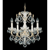 Schonbek Century 5 Light Chandelier in Gold and Clear Heritage Handcut Trim 1704-20 photo thumbnail