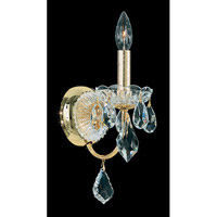 Schonbek Century 1 Light Wall Sconce in Gold and Clear Heritage Handcut Trim 1701-20
