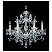 Schonbek Century 6 Light Chandelier in Silver and Clear Heritage Handcut Trim 1705-40