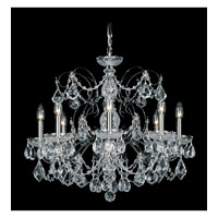 Century 8 Light 24 inch Black Pearl Chandelier Ceiling Light