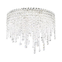 Schonbek CH1801N-401A Chantant 5 Light 21 inch Stainless Steel Flush Mount Ceiling Light in Clear Spectra, Strand