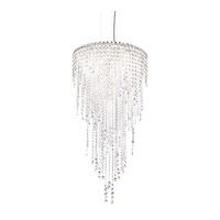 Chantant 5 Light 21 inch Stainless Steel Pendant Ceiling Light in Clear Spectra, Strand
